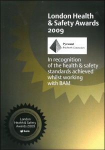 BAM H&S Award 2009