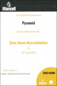 Mansell Zero Harm Accreditation 2012