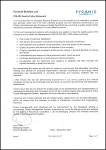 POL003 Quality Policy Statement