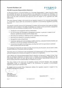 POL008 Corporate Responsibility Statement