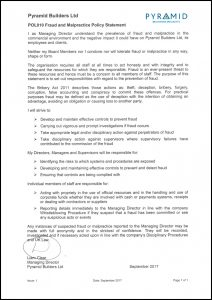 POL010 Fraud and Malpractice Policy Statement