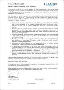 POL013 Behavioural Safety Policy Statement
