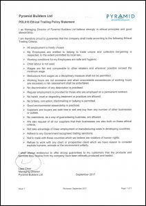 POL016 Ethical Trading Policy Statement